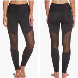 Onzie Track Mesh Cutout Yoga Black Leggings S/M